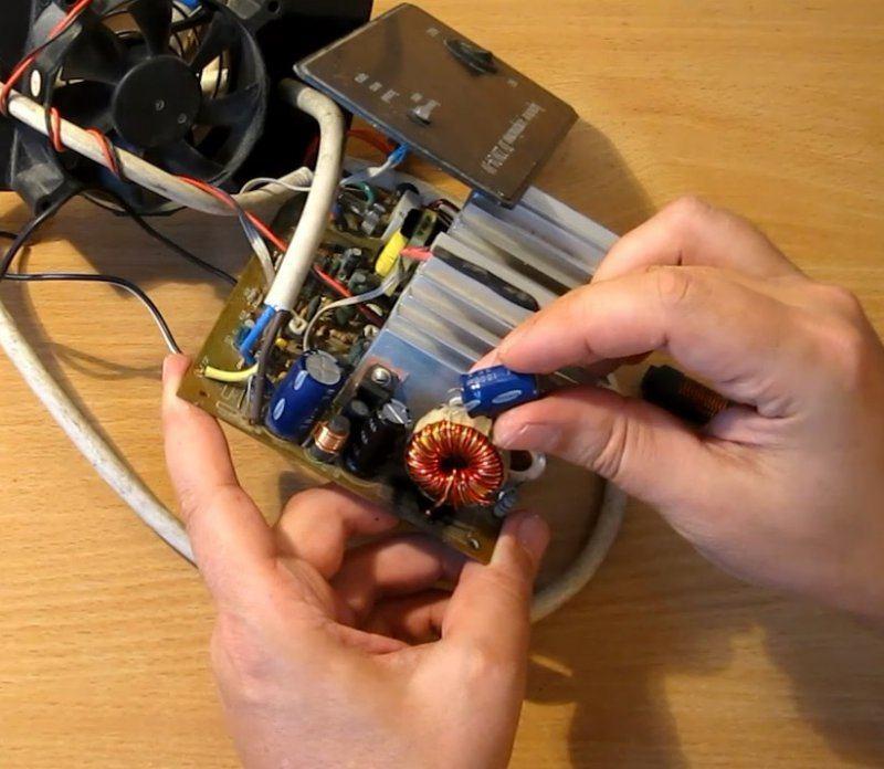 Немного о ремонте зарядного устройства и синфазном дросселе на выходе БП