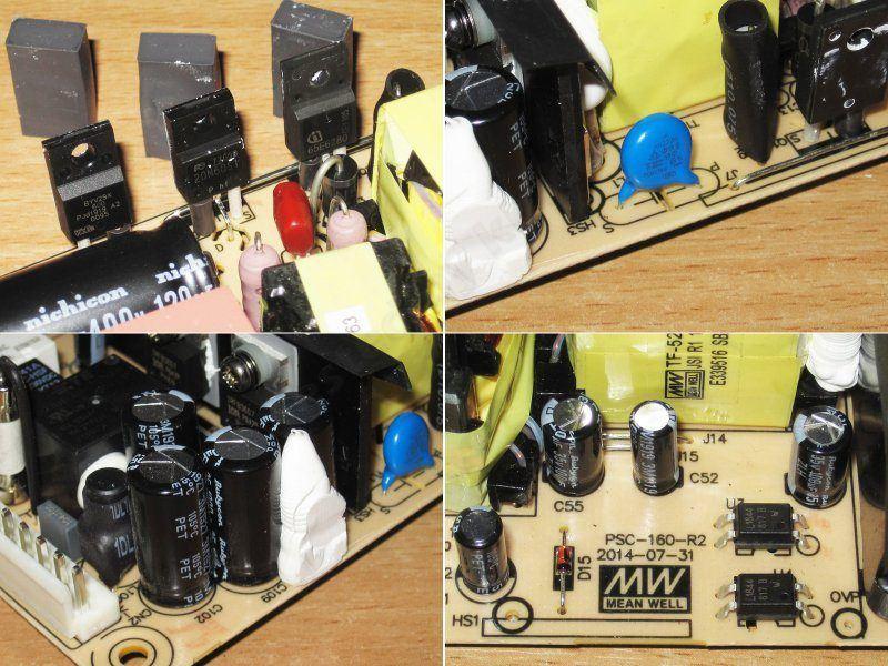 MeanWell PSC-160A-C, 160Вт блок питания с функцией ИБП